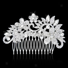 Mode Femme Peigne à Cheveux Épingle de Strass Fleur Bijoux Soirée