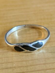 Black Agate 925 Silver Ring