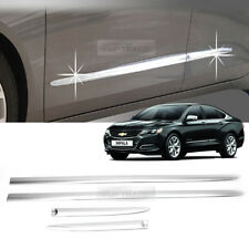 4_Chrome Side Skirt Accent Line Molding trim C262 For Chevrolet 2015-2018 Impala