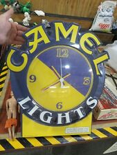 Collectible Camel Light Cigarette Large Wall Clock Working Condition