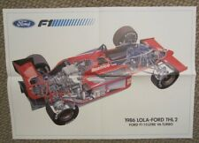 Fold-out race poster 1986 Lola-Ford Formula 1 F1 Team Haas