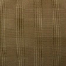 "WAVERLY GRANTHAM PLAID CHESTNUT BROWN HOUNDSTOOTH CHECK FABRIC BY YARD 54""W"