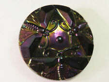 New ListingAntique Carnival Glass Amethyst Drangonflies Hat Pin, Victorian Ladies Jewelry