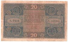 Czechoslovakia 20 Korun 1919 P-9 *Rare*