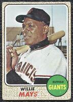 1968 Topps Willie Mays Vintage Baseball Card #50 San Francisco Giants HOF  VG-EX