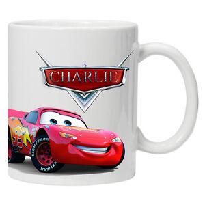 NEW Personalised cars movie 6oz child mug cup tea
