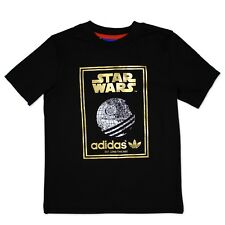 ADIDAS ORIGINALS STAR WARS KINDER JUNGS T-SHIRT TODESSTERN TEE SCHWARZ GOLD 104
