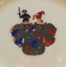Porzellan Wappenteller HUGO VON SICHART, KPM Berlin, 19. Jhdt., 1. Wahl