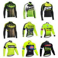 Mens Cycling Jersey Long Sleeve Jacket Bike Bicycle Shirt Breathable Tops