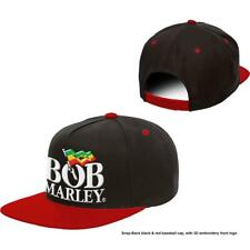 More details for official licensed - bob marley - logo snapback baseball cap reggae ska jamaica