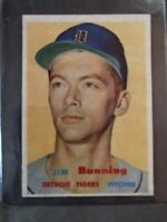 1957 Topps Jim Bunning (R). NM - MT, Sharp Edges, Clean Borders, Nice Centering!