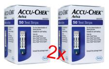 2x ACCU-CHEK AVIVA 50 TEST STRIPS BRAND NEW