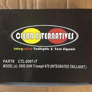 Clear Alternatives Integrated Taillight Triumph Daytona 675 2005-2007