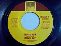 Marvin Gaye Trouble Man / Don't Mess With Mister T 45 1972 Tamla Vinyl Record