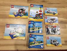 Lot Of 9 Lego Creator City Marvel Instructions 31006 76030 60119 5770