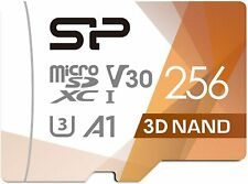 NEW Silicon Power 256GB Micro SDXC UHS I U3 High Speed SD Card Adapter Micro SD