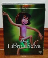 EL LIBRO DE LA SELVA-DISNEY CLASICO Nº 19-DVD-NUEVO-PRECINTADO-FUNDA DE CARTON