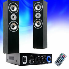Hifi Heimkino Musikanlage Bluetooth USB SD MP3 Verstärker schwarze Säulen Boxen