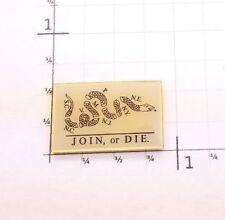 Join or Die Lapel Pin Badge Hat Badge Tie Tack Gadsden Ben Franklin Revolution