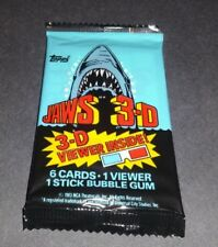 1983 Topps Jaws 3-D Wax Pack Fresh from Box C@@L!