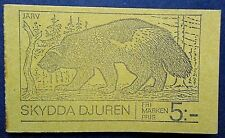 Sweden 1973 Save Our Animals Booklet(Fluorescent Paper). MNH.