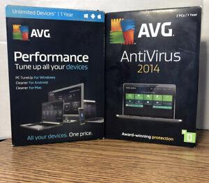 Bundle: AVG Antivirus 2014 & AVG Performance 2016 For Windows *USED PRODUCT KEYS