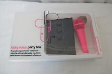Lucky Voice Party Box Home Karaoke Machine Pink