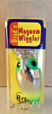 Brad's Magnum Wiggler Metallic Silver with Chartreuse W-MW-037
