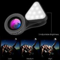 3 in1 Clip On Camera Len Kit Wide Angle Fish Eye Macro for Smart Phone Universal
