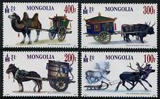 Transportation Cheval Chameau SLED MNH Jeu de 4 TIMBRES 2016 Mongolie Bœufs
