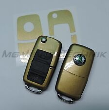 2S_key UN KOR Sticker Skoda Fabia Oktavia Superb RS gold metallic shiney