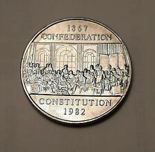 "1982 Canada One Dollar Constitution Coin (100% Nickel)  ""BRILLIANT UNCIRCULATED"""