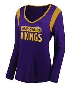 Minnesota Vikings NFL Women's Long Sleeve High-Low Tee Shirt Size Medium - NWT