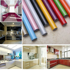 Self Adhesive Contact Paper Cupboard Door Drawer Cover Vinyl Wall Sticker Roll