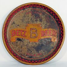 "Rare Vintage Betz Beer Tray ""Est. 1868 Phila., Pa."""
