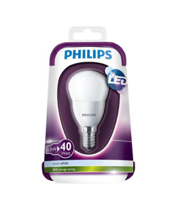 Philips E14 5.5W 470lm Mini globe LED Light bulb , pack of 2