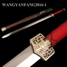 Handmade Chinese Sword Han Dynasty Jian High Carbon Steel Rosewood Scabbard