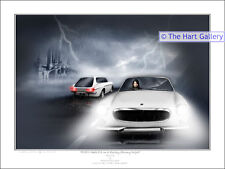 Volvo P1800 Car Fantasy Art Ltd  Edition Giclee Signed Print Picture The Saint