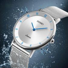 Minimalist Men's Analog Stainless Steel Quartz Watches Ultra-Thin Waterproof US