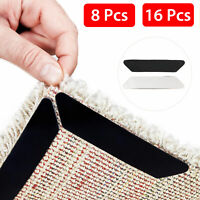 8/16x Reusable Rug Carpet Mat Grippers Anti Slip Rubber Grip Skid Tape Healthy