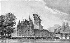 ANJOU - CHÂTEAU des PONTS-DE-CÉ au 19e siècle - Gravure du 19e siècle