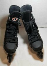 New ListingBauer Black Nhl Inline Roller Off Ice Hockey Skates Men's Sz 8 D R