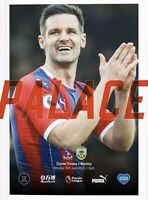 CRYSTAL PALACE v BURNLEY Premier League Programme 2020 Free Uk Delivery