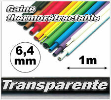 GT6-1 # gaine thermo rétractable Transparente 6,4 mm 1m ratio 2/1 transparent