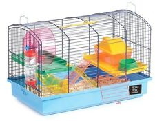 DELUX LARGE HAMSTER CAGE STARTER KIT. Includes shavings. Deep base, less mess