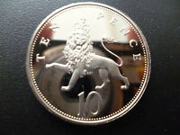 1986 PROOF 10P COIN  (LARGER TYPE) 1986 TEN PENCE PIECE ONLY ISSUED IN FOR SETS.