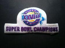Super Bowl XXVIII Patch (white) Aikman, Smith, Irvin,Dallas Cowboys Champions!