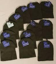 NEW Wholesale Lot 12 Beanie Hats Winter Short Knit Skull Cap ARMY GREEN Hat Caps