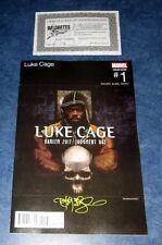 LUKE CAGE #1 signed HIP HOP variant TIM BRADSTREET MARVEL METHOD MAN Tical 2000