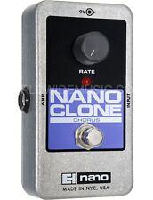 EHX electro harmonix nano clone Analog Chorus Guitare Pédale boîte Stomp /